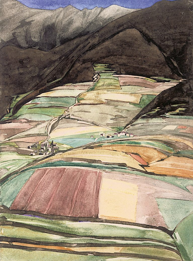 Village in the Mountains | Charles Rennie MacKintosh | oil painting