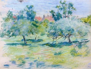 Orchard in Jersey | Berthe Morisot | oil painting