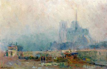 Notre Dame and the Port de la Tournelle | Albert Lebourg | oil painting
