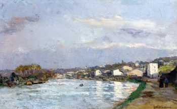 On the River | Albert Lebourg | oil painting