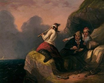 Smugglers Look Out | James Alfred Aitken | oil painting