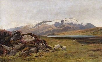 Ben Nevis -  The First Snow | James Alfred Aitken | oil painting