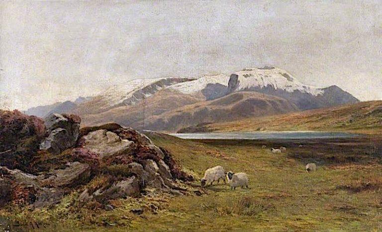 Ben Nevis -  The First Snow | James Alfred Aitken | oil painting