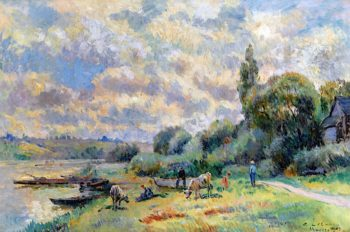 The Banks of the Seine at Muids | Albert Lebourg | oil painting