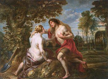 Vertumnus and Pomona (after Peter Paul Rubens)   Jacob Jordaens   oil painting