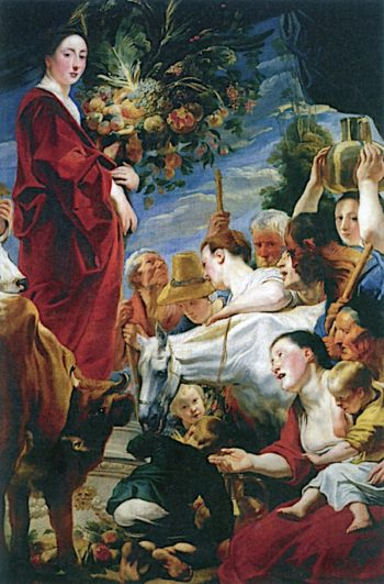 Homage to Ceres | Jacob Jordaens | oil painting
