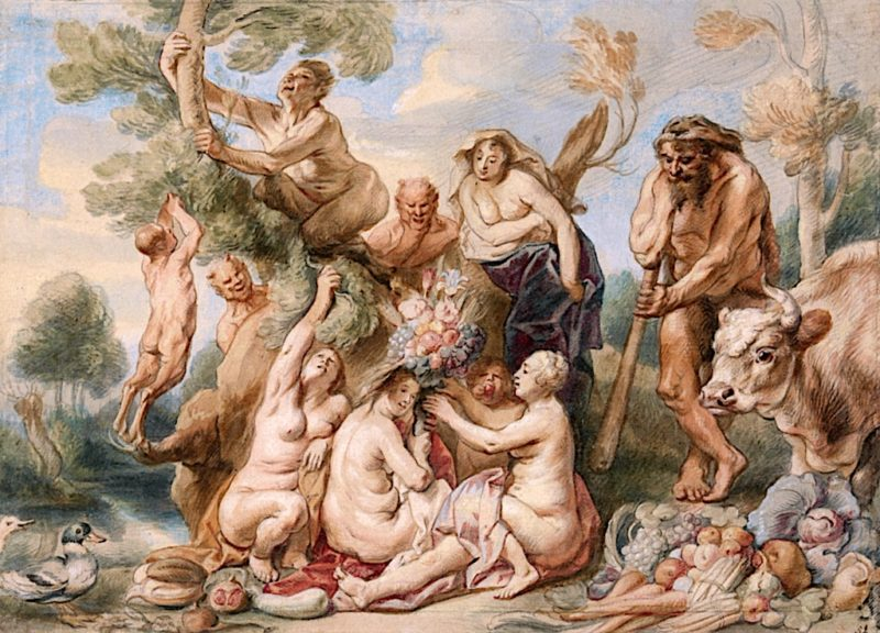 Achelous Defeated by Hercules | Jacob Jordaens | oil painting