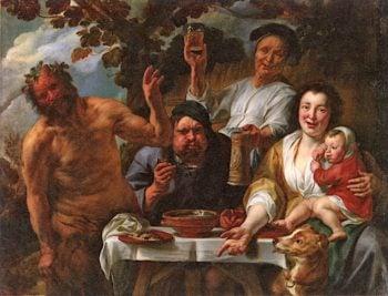 Satyr and Peasant | Jacob Jordaens | oil painting