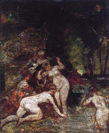 Bathers | Adolphe-Joseph-Thomas Monticelli | oil painting