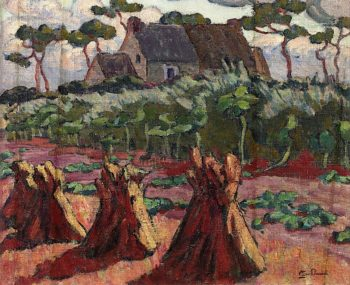 Landscape with Haystacks   Armand Guillaumin   oil painting