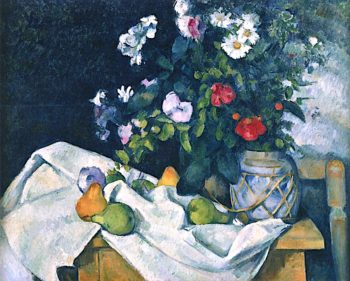 Flowers in a Ginger Pot | Paul Cezanne | oil painting
