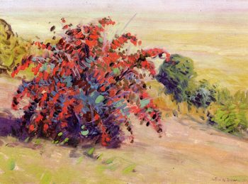 The Barberry Bush | Arthur Wesley Dow | oil painting