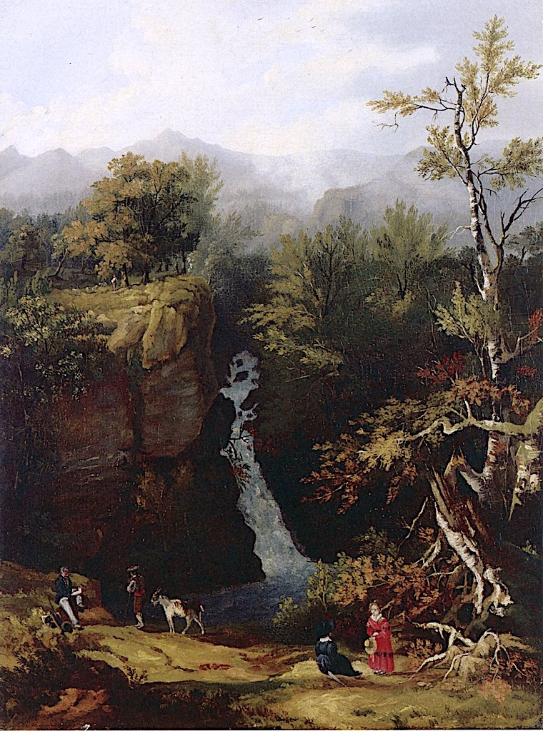 Thomas Cole Sketching in the White Mountains | Henry Cheever Pratt | oil painting