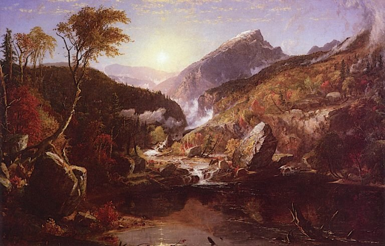 An Indian Summer Morning in the White Mountains | Jasper Francis Cropsey | oil painting