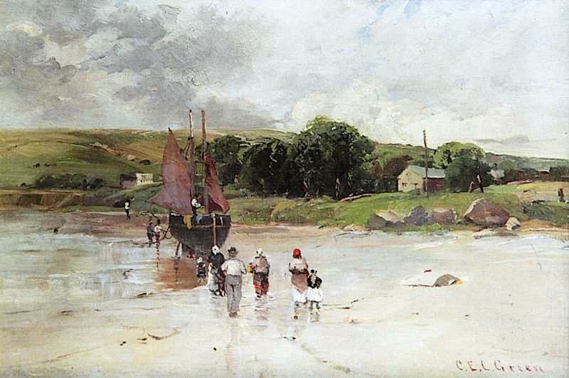 At Low Tide | Charles E. L. Green | oil painting