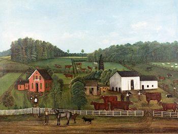 Oak Hill Farm   Granville Bishop   oil painting
