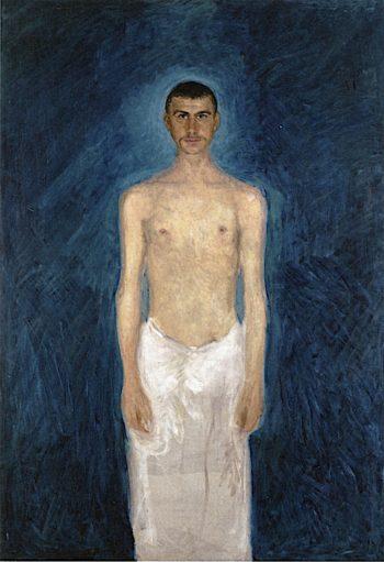 Semi - Nude Self - Portrait | Richard Gerstl | oil painting