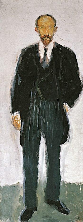 Prof. Ernst Diez   Richard Gerstl   oil painting