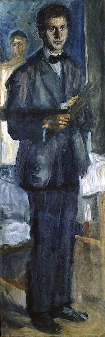 Self - Portrait with Palette | Richard Gerstl | oil painting