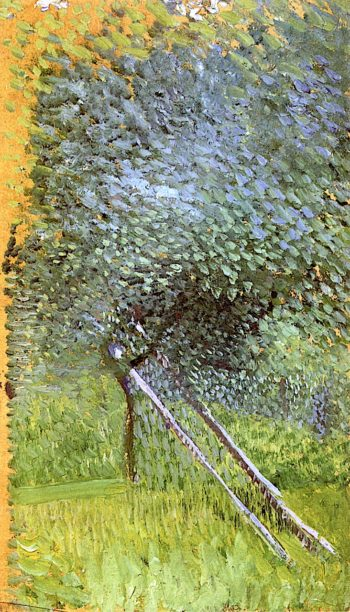 Fruit Tree with Wooden Supports | Richard Gerstl | oil painting