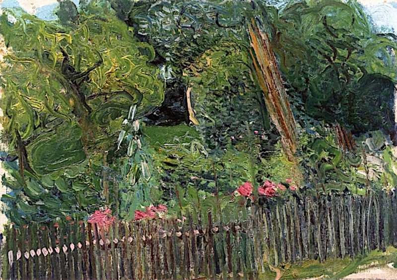 Country Garden with Fence | Richard Gerstl | oil painting