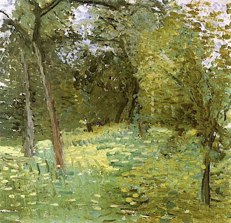 Flowering Meadow with Trees | Richard Gerstl | oil painting