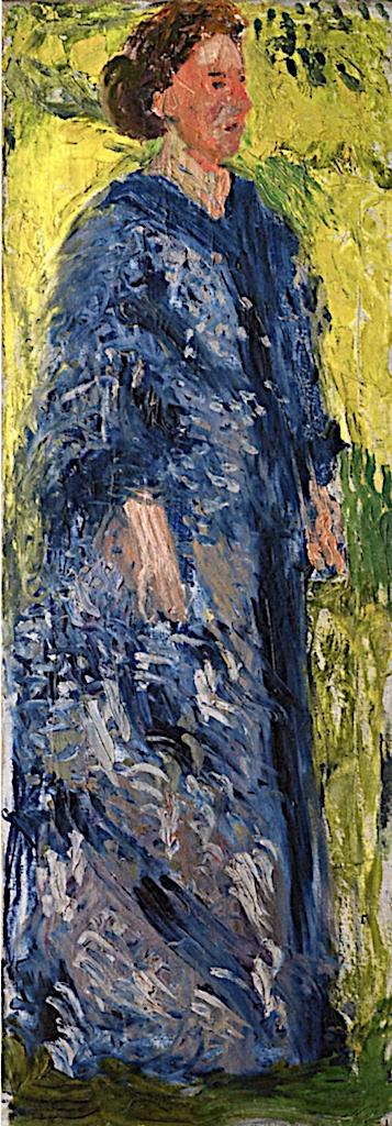 Mathilde Schönberg in the Garden | Richard Gerstl | oil painting