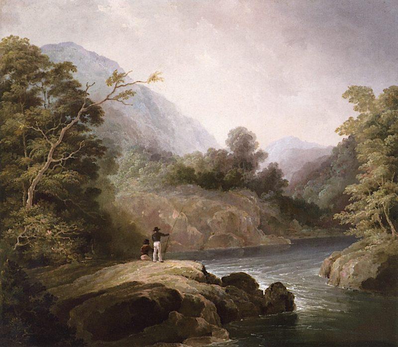 Fishermen in a Mountain Landscape | Alvan Fisher | oil painting