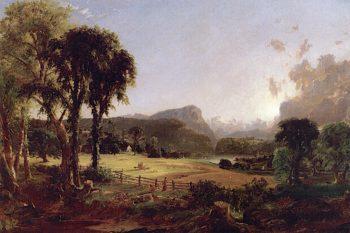 American Harvesting | Jasper Francis Cropsey | oil painting