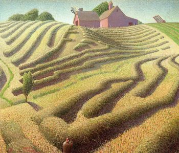 Haying | Grant Wood | oil painting