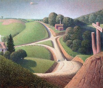 New Road | Grant Wood | oil painting