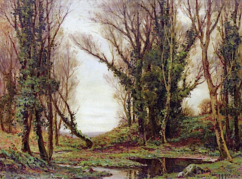 Early Winter Trees | Anna Althea Hills | oil painting