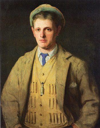 Portrait of Lou Frink | Julian Alden Weir | oil painting