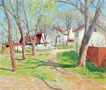 Suburban Village | Julian Alden Weir | oil painting