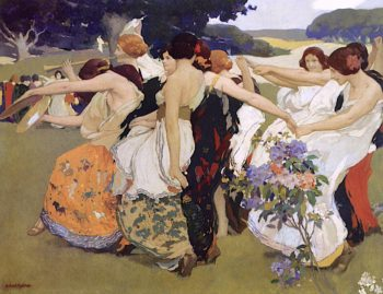 Youth   Arthur Frank Mathews   oil painting