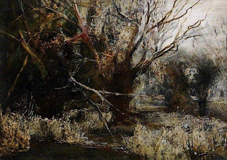 December   Arthur Lowe   oil painting