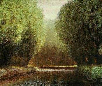 The Canal Bend | Arthur Lowe | oil painting