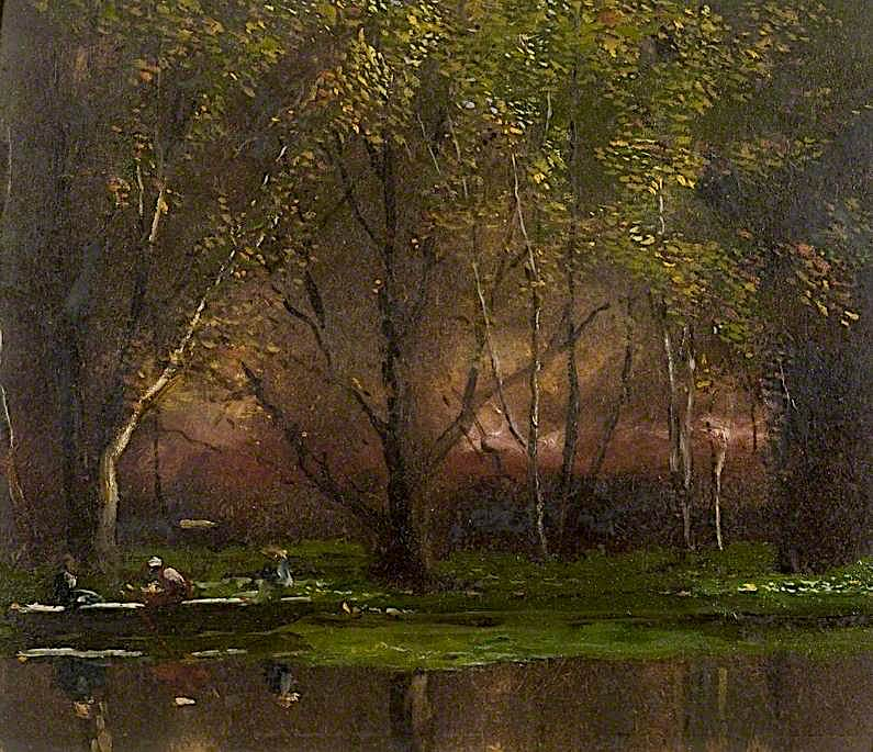When the Evening Sun Is Low   Arthur Lowe   oil painting