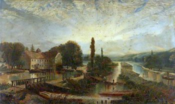 Landscape with a Mill and Canal | Arthur Lowe | oil painting