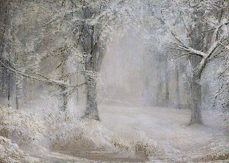 Snow   Arthur Lowe   oil painting