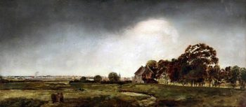 Landscape with a Distant Town   Robert Tonge   oil painting