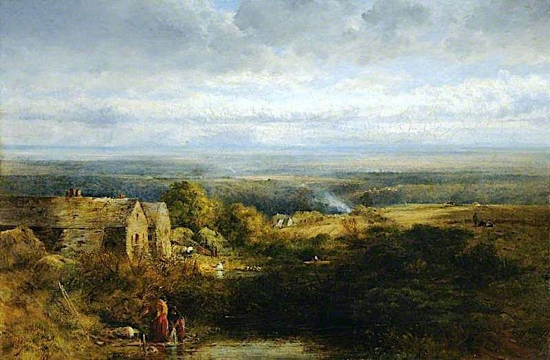 The Valley of the Dee   Robert Tonge   oil painting