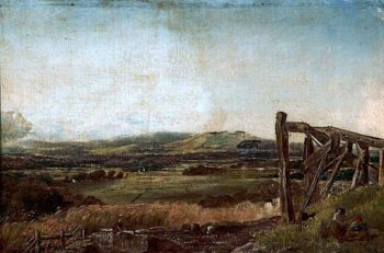 Landscape with a Jetty   Robert Tonge   oil painting