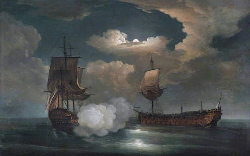 The Capture of the Comte de St Florentine by HMS Achilles