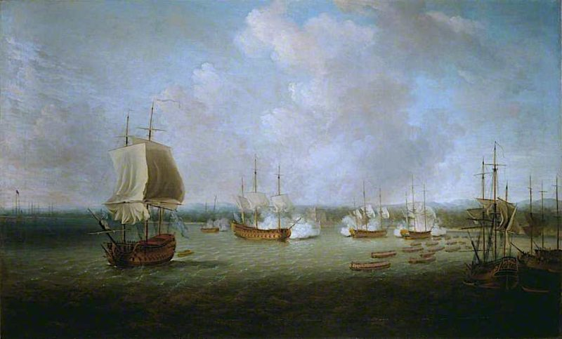 The Capture of Havana by the English Squadron   Dominic Serres   oil painting