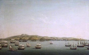 Rodneys Fleet Bombarding Martinique