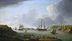 Return of a Fleet into Plymouth Harbour | Dominic Serres | oil painting