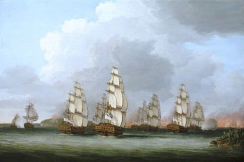 Destruction of the American Fleet at Penobscot Bay