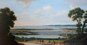 View from Portsdown Hill Overlooking Portsmouth Harbour | Dominic Serres | oil painting