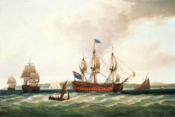 The Royal George and Other Vessels | Dominic Serres | oil painting